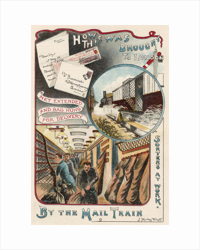 Mail train carrying letters to London from towns and cities in Britain, c1900 by Unknown