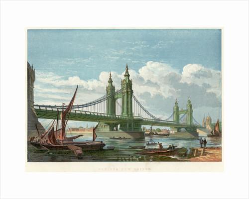 Chelsea Bridge, London, 1858 by Unknown