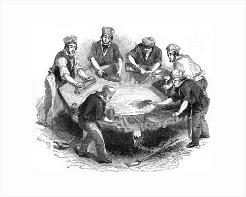 Making beaver hats, 1841 by Anonymous