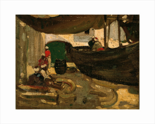 Arab Fishermen and Boats by John Duncan Fergusson