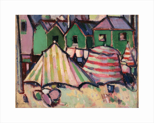 Bathing Boxes and Tents at St. Palais by John Duncan Fergusson