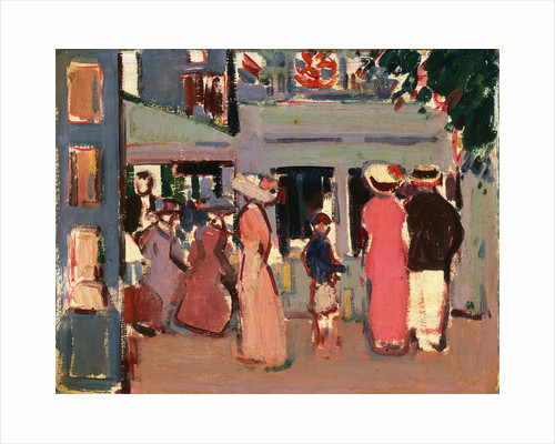 Before a Café: Paris by John Duncan Fergusson