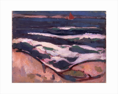 Dark Sea and Red Sail by John Duncan Fergusson