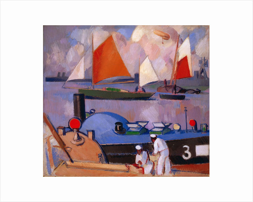 Blue Submarine: Portsmouth Harbour by John Duncan Fergusson