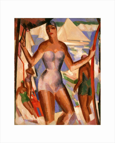 Bathers and Yachts by John Duncan Fergusson