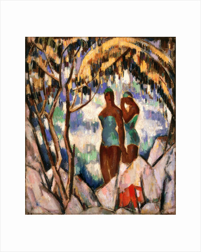 Bathers in Green by John Duncan Fergusson