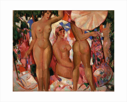 Bathers: The Parasol by John Duncan Fergusson