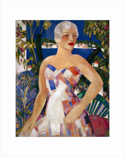 Blonde with Checked Sundress by John Duncan Fergusson