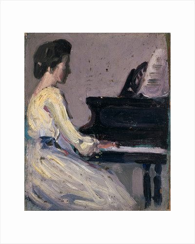 Artist's Sister at Piano by John Duncan Fergusson