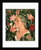 Head with Roses by John Duncan Fergusson