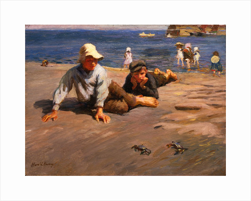 Sport on the Shore - A Crab Race by Harold C Harvey