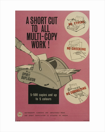 A short cut to all multi-copy work! by unknown