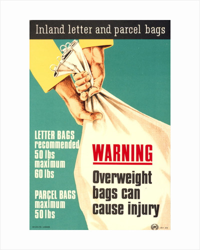 Warning overweight bags can cause injury by unknown