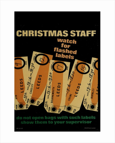 Christmas staff - watch for flash labels by unknown
