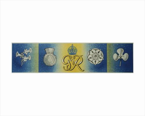 George VI Rex poster - No slogan by Barnett Freedman