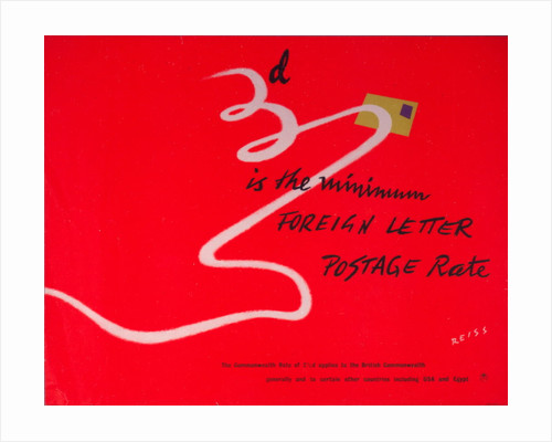 3d is the minimum foreign letter postage rate by Manfred Reiss