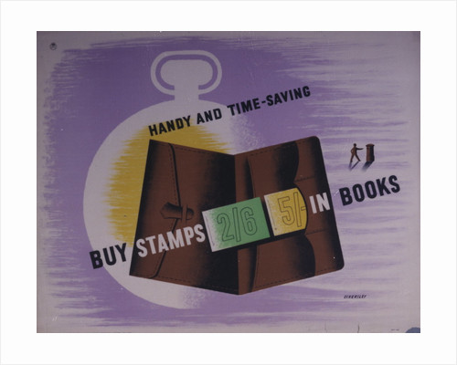 Buy stamps in books. Handy and time saving by Tom Eckersley
