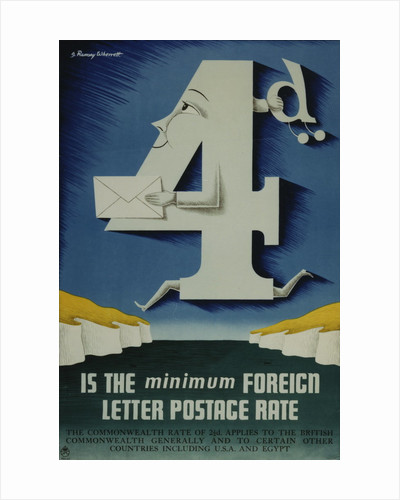 4d is the minimum foreign letter postage rate by Joseph Ramsey Wherrett