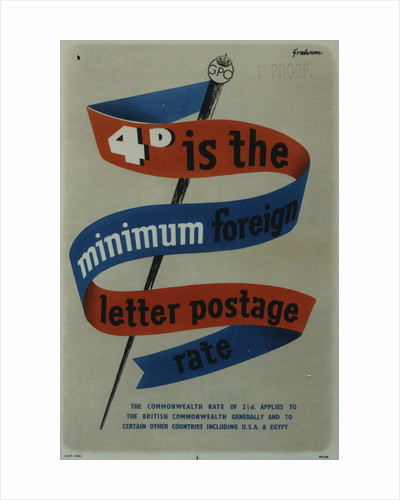 4d is the minimum foreign letter postage rate by Sidney Graham