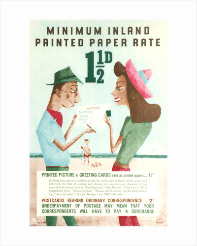 Minimum inland printed paper rate 1d by Alick Knight