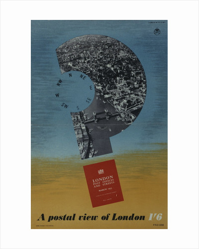 'London Post Offices and Streets March 1953'. A postal view of London 1'6 by H W Browning