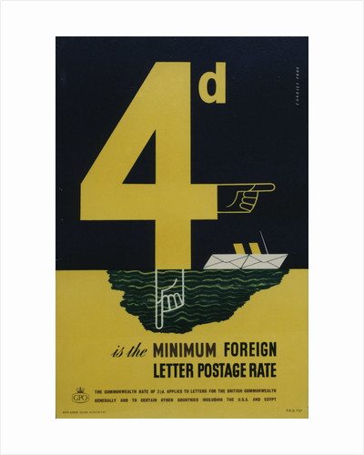 4d is the minimum foreign letter postage rate by Charles Page