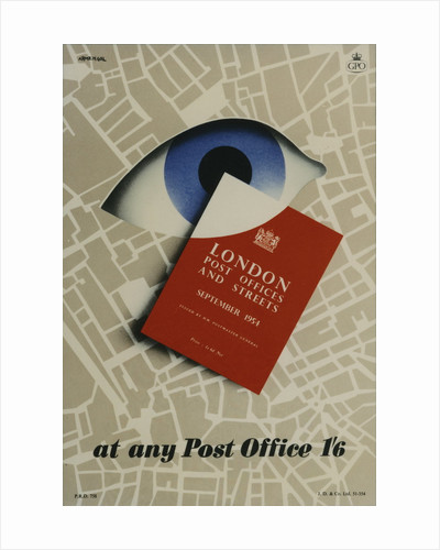 'London Post Offices and Streets September 1954'. At any Post Office 1'6 by M H Armengol