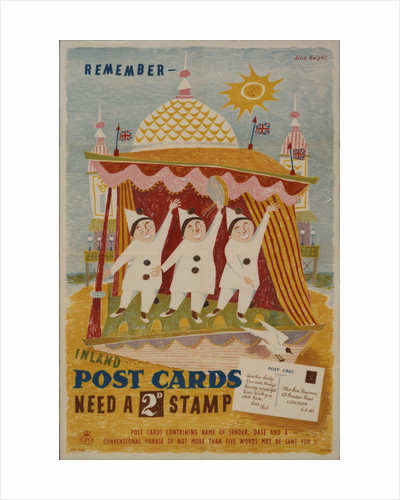 Remember inland postcards need a 2d stamp by Alick Knight