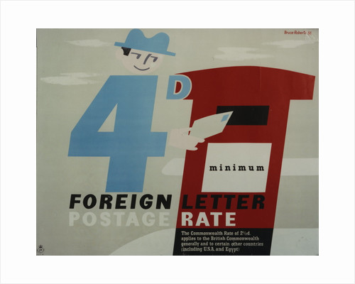 4d minimum foreign letter postage rate by Bruce Roberts