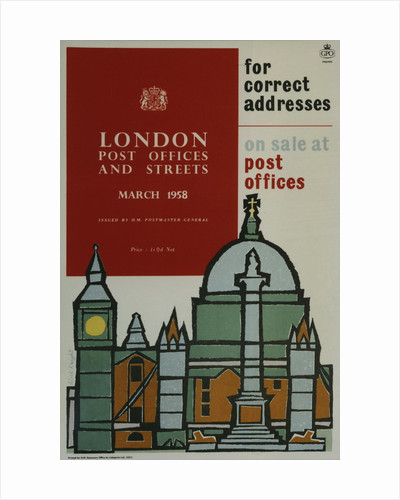 'London Post Offices and Streets, March 1958'. For correct addresses on sale at post offices by Alick Knight