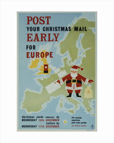 Post your Christmas mail early for Europe by unknown