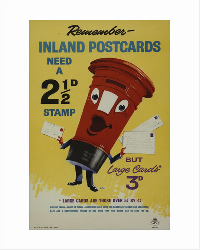 Remember inland postcards need a 2�d stamp by John Thomas Young Gilroy