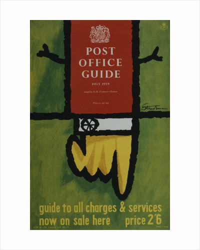 'Post Office Guide, July 1959'. Guide to all charges & services by Theo Stradman