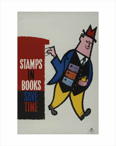 Stamps in books save time by Harry Stevens