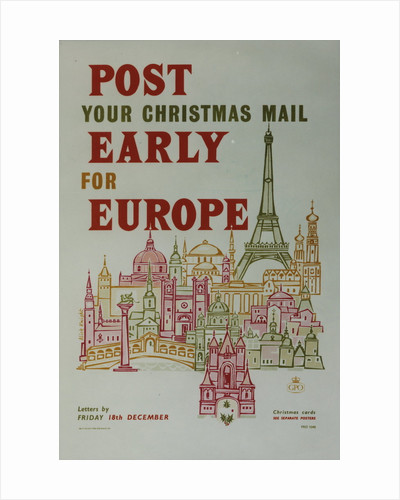 Post your Christmas mail early for Europe by Alick Knight