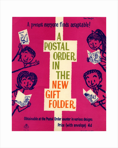 A present everyone finds acceptable! A postal order in the new gift folder by Robert Broomfield