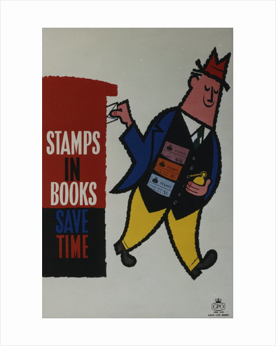 Stamps in books save time by unknown