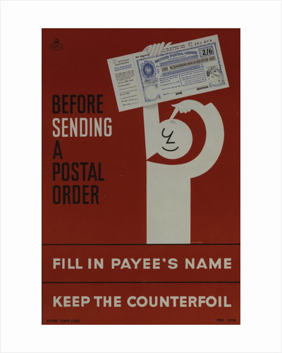 Before sending a postal order by Cowan