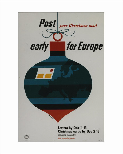 Post your Christmas mail early for Europe by Tom Eckersley