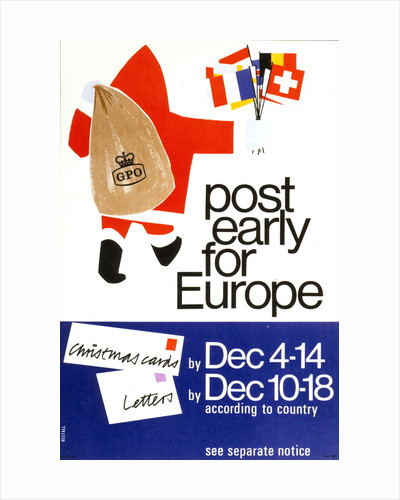 Post early for Europe by Restall