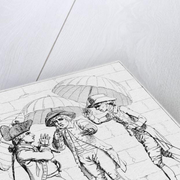 'A Meeting of Umbrellas' 1782 by J Kent