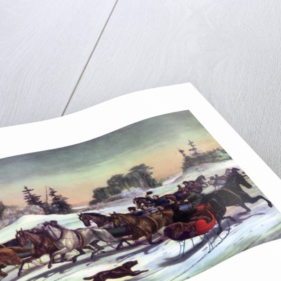 Trotting Cracks on the Snow by Currier and Ives