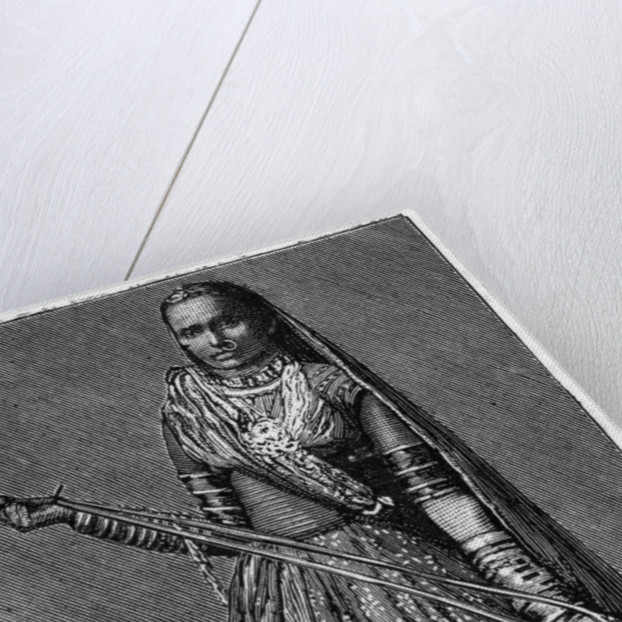 Bhil woman by Anonymous
