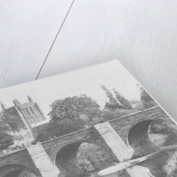 The bridge over the Wye and cathedral, Hereford by Anonymous