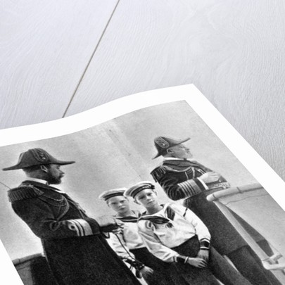 King Edward VII (1841-1910) with his son George (1865-1936) and his two eldest grandsons by Queen Alexandra