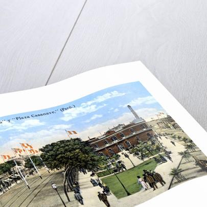 Avenida Saenz Pena and Plaza Casanave, Callao, Peru by Anonymous