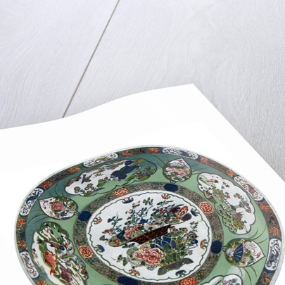 A Chinese porcelain dish of the Kang-he period by Anonymous