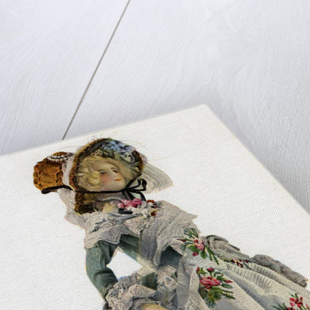 A small-scale dress design mannequin by Anonymous