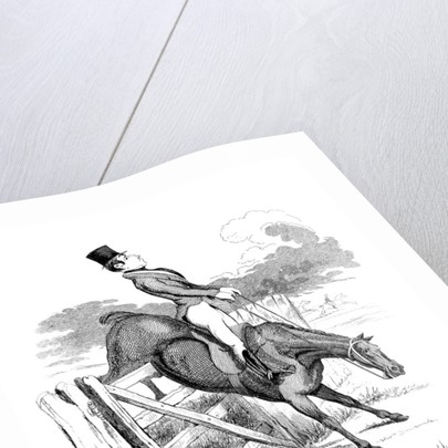 Equestrian cartoon by Anonymous