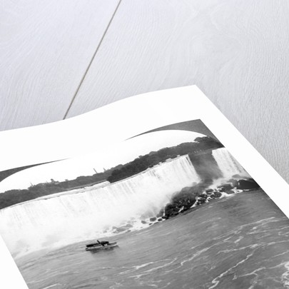 Niagara Falls and the 'Maid of the Mist', from the Canadian Cliffs, Canada by Realistic Travels Publishers